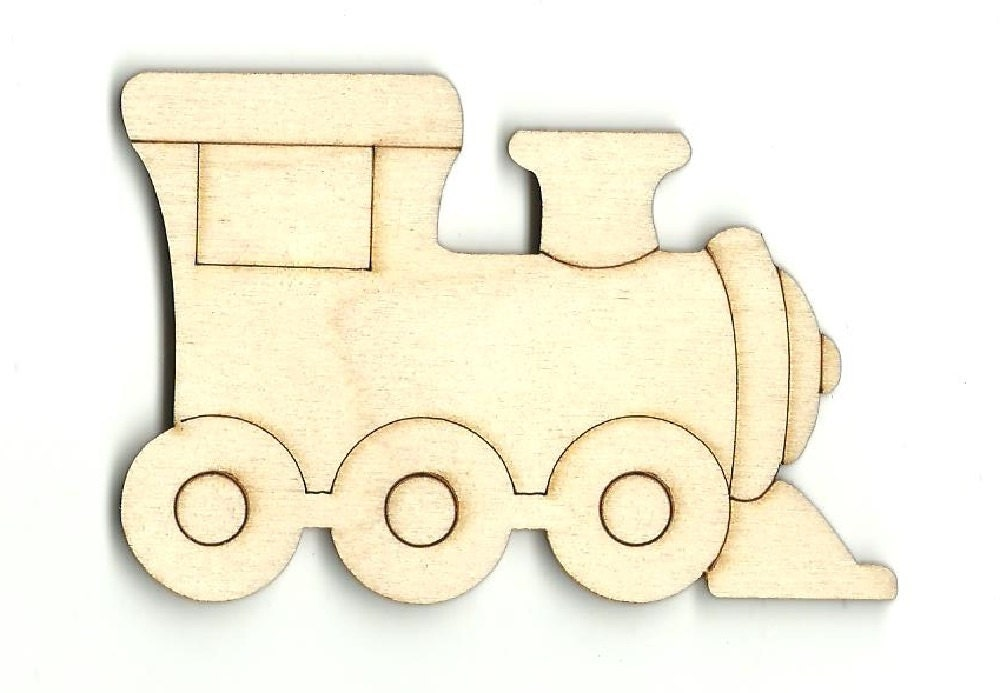 Train Laser Cut Out Unfinished Wood Shape Craft Supply TRN3