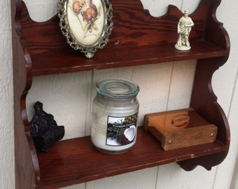 Vintage wooden shelf/ Display shelf/ Home decor