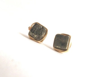 Pyrite Wire Wrapped Studs