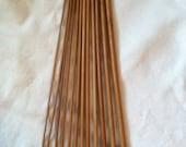 Bamboo Afghan Crochet Hooks/ 12 Sizes, Wooden Tunisian Hooks