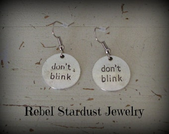 Doctor Who Don't Blink earrings