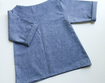 Charcoal chambray swing top