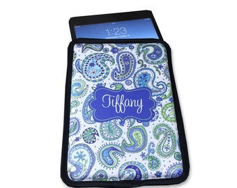 Personalized iPad Cover Personalized iPad Case Monogrammed iPad Sleeve Personalized with Name or Monogram
