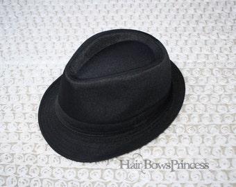 Fedora Hat For Kids,Child Gangster boys girls infant toddler 2-6y Black rock,US