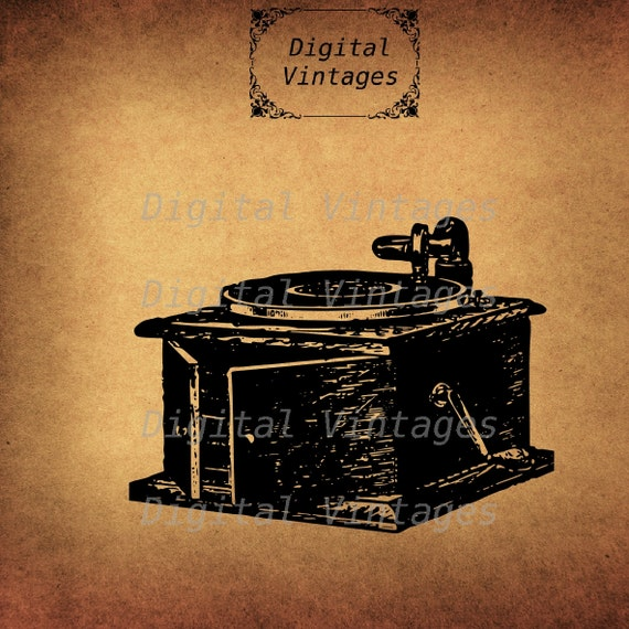 Vintage Victrola Phonograph Edison Royalty Free by DigitalVintages