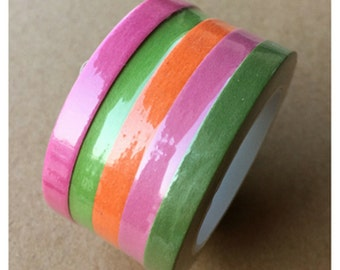 5 Rolls Rainbow Washi Tape, Pure Color Washi Tape (set of 5 rolls)