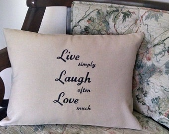 Inspirational Pillow Embroidered