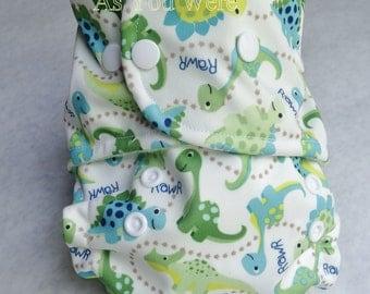 Pocket Cloth Diaper, OS cloth diaper, envelope cloth diaper, minky cloth diaper, boy cloth diaper, dino cloth diaper, dinosaurs