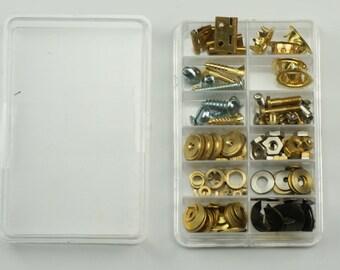 Clock spare repair parts, grommets screws nuts washers hinges