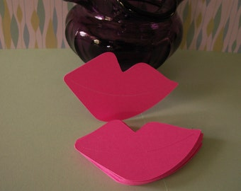 2 inch pink paper lips