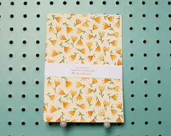 Big Notebook // Yellow Floral // A5 // Blank