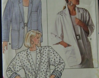 VINTAGE Butterick Pattern B4850 Misses' Jacket