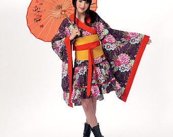 McCall's Pattern M7270 Kimono Top, Skirt, Obi and Belt