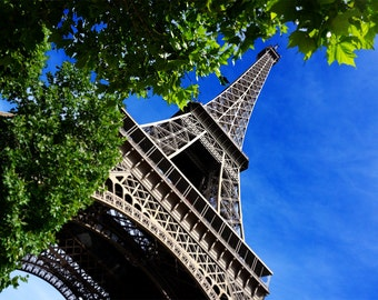 Eiffel Tower in Paris France - Landscape City Photography Print