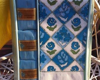 Yardley English Lavender Soap Towel set NIB