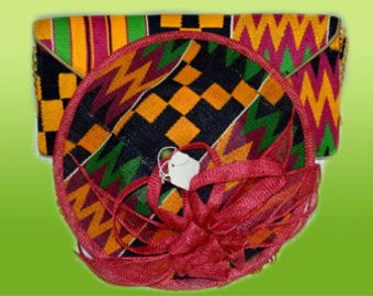 Kyling Fascinator, head piece, bags and purses, kente clutch, mothers day gift, Fascinators and Mini Hats,gift idea,African Head Piece mimmi