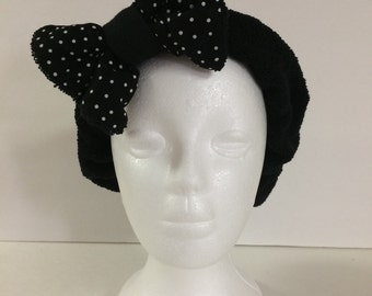 SALE! Black Foofie Spa Headband- holds hair back while washing your face