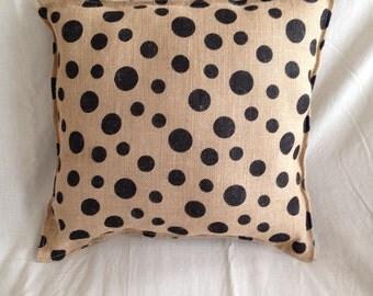 Polka dot pillow 16x16