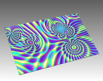 Decorative abstract 3D relief op art sculpture model for CNC machining Flow 7720