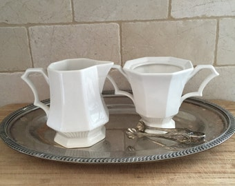 Ironstone Pitcher and Sugar Bowl Set