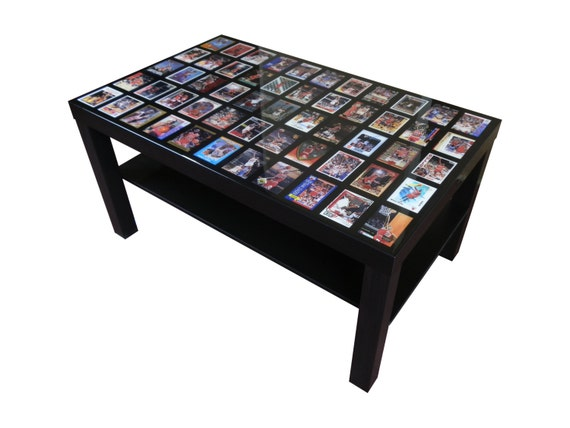 Custom Sports Card Coffee Table Display With High Gloss Epoxy