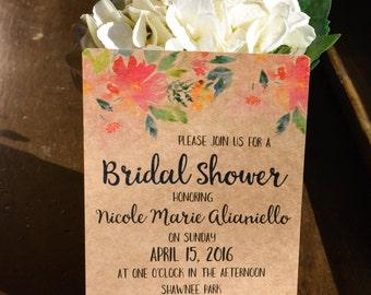 FLORAL Bridal Shower Invitations #4