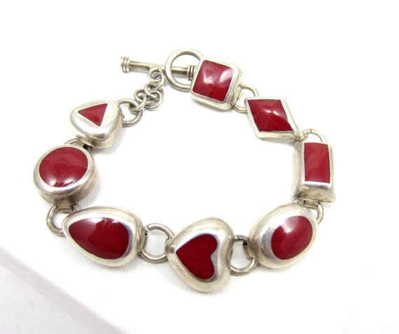 taxco mexico 925 sterling silver red coral by