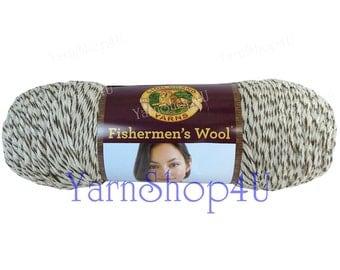 OAK TWEED Fishermen's Wool Fishermens yarn, 100% Pure Virgin Wool, 8oz, Worsted weight, Brown felting yarn cream brown marble yarn, feltable