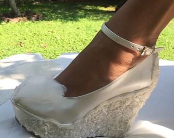 wedding wedding wedge shoes bridal wedge shoesbridal shoes bridal platform wedges