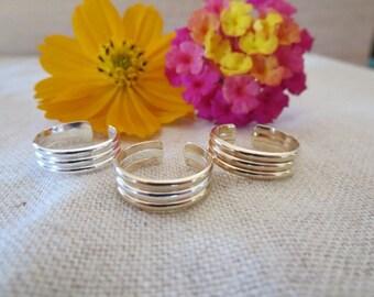 Three Bar Toe Ring