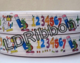 "7/8"" School Grosgrain Ribbon"
