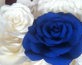 Big paper roses bouquet