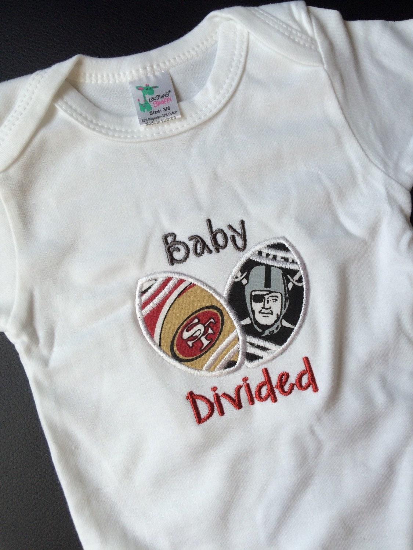 Baby Divided Clothing San Francisco Bodysuit Oakland Raiders