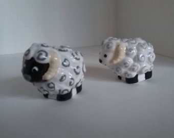 Black-faced Ram or White-faced Ram, hand painted