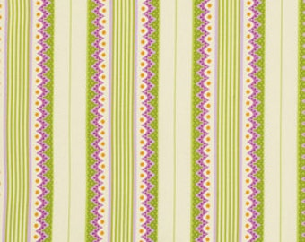 Lottie Da Carousel Stripe by Heather Bailey 100% cotton.  Free Spirit fabrics, quilters cotton, fabric by the yard, orchid stripes,