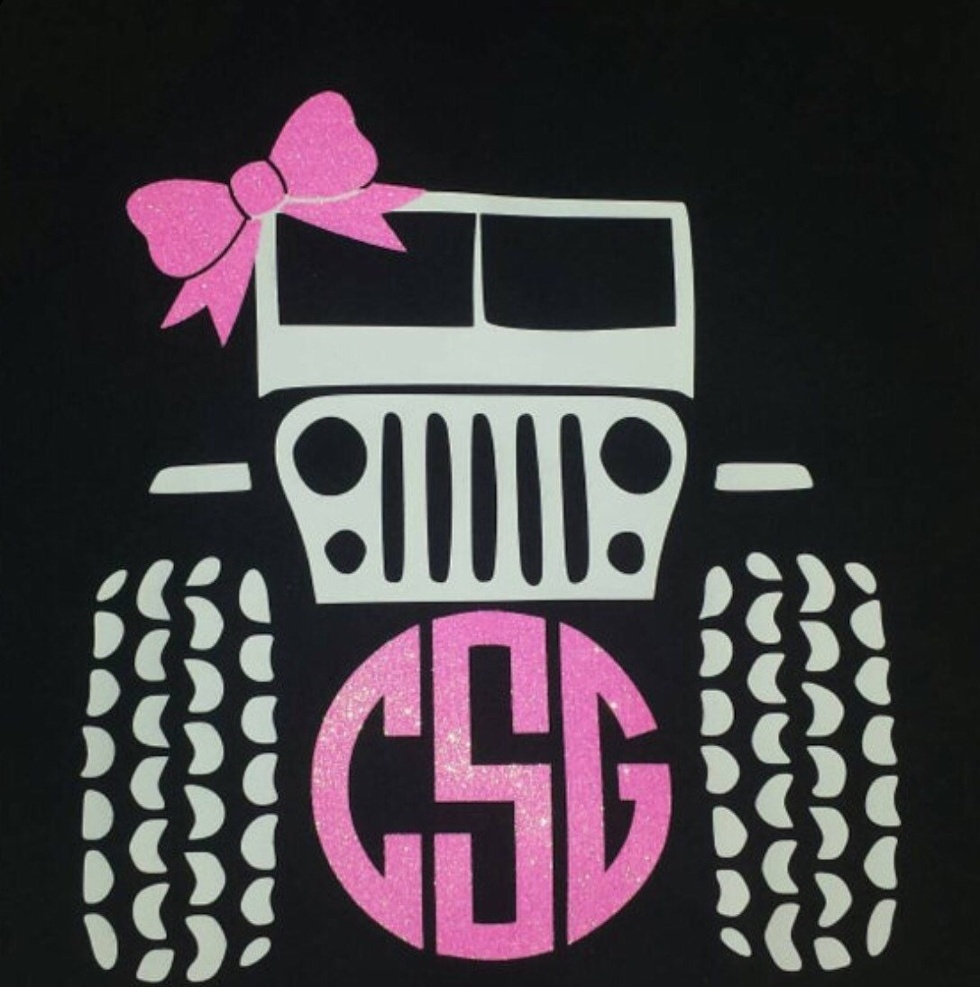 Jeep Tshirt With Monogram - Jeep t shirt design