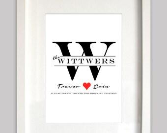 Wedding Print - Last Name