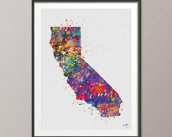 San Diego Art Etsy - Us map san diego