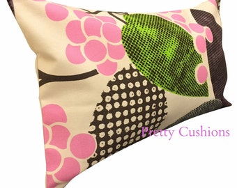 Designers Guild Barcelona Pink & Lime Bolster Cushion Cover