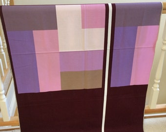 Finnish Fabric Samples, Textile Made in Finland, Modern Color Blocking Design
