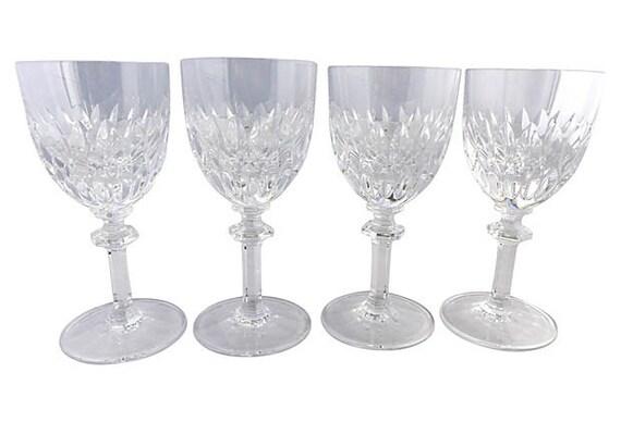 Sale Org Set Of 4 Gorham Crystal Wine Glasses 3d