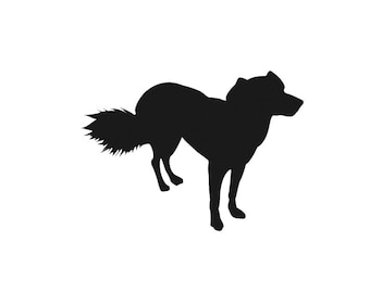 Sheep Dog with Bushy Tail - Home/Laptop/Computer/Phone/Car Bumper Sticker Decal
