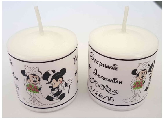 56 disney mickey and minnie wedding favors votive candle