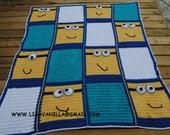 Minion Blanket Pattern, crochet pattern