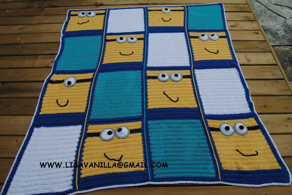 Crochet Pattern For Minion Blanket : Minion Blanket Pattern crochet pattern