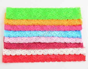Lace Headbands, Stretch Lace Headbands For Baby Girls DIY Hair Accessories