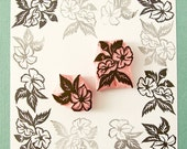 Tropical flowers rubber stamps, flowers, hand carved stamps, floral decor, flower rubber stamp, wedding flowers