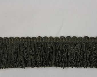 Olive Green Fringe- Decorative Trim 876