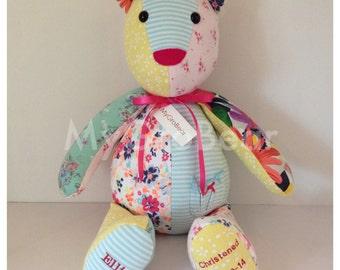 MyGroBear- keepsake memory bear, christening gift