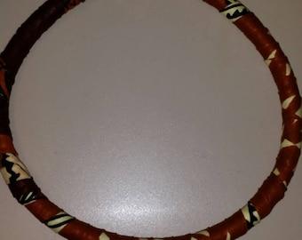 African Kente Cloth Fabric Choker Necklace